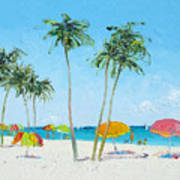Hollywood Beach Florida And Coconut Palms Poster