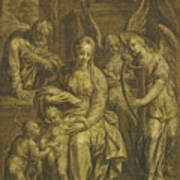 Holy Family With Angels Poster