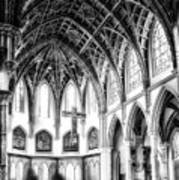 Holy Name Cathedral Chicago Bw 03 Poster