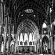 Holy Name Cathedral Chicago Bw 04 Poster
