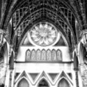 Holy Name Cathedral Chicago Bw 06 Poster