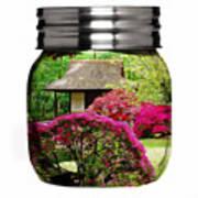 Home Flower Garden In A Glass Jar Art Poster