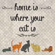 Home Is Where Your Cat Is-jp3040 Poster