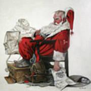 Homeless Santa Poster