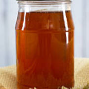 Honey In Clear Glass Jar Poster