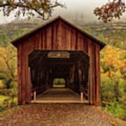 Honey Run Covered Bridge In Autumn Poster