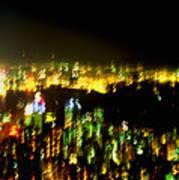 Hong Kong Harbor Abstract Poster