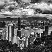 Hong Kong In Black And White Poster