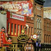 Honky Tonk Row - Nashville Tn Poster