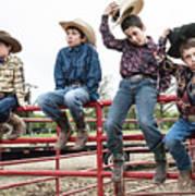Honoring A Fallen Cowboy Poster