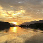 Hood River Golden Sunset Poster