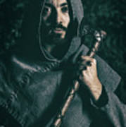 Hooded Man With Axe Poster