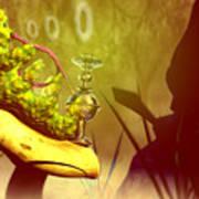 Hookah Smoking Caterpillar Poster