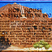 Hopi House And Dedication Plaque Poster