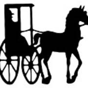 Horse And Buggy Vector Poster