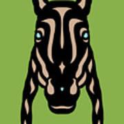 Horse Face Rick - Horse Pop Art - Greenery, Hazelnut, Island Paradise Blue Poster