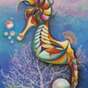 Horse Of A Different Color Poster by Tracey Levine
