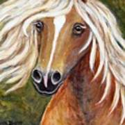 Horse Painting Blondie Poster