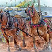 Horse Pull At The Fair Poster
