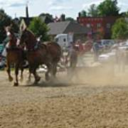 Horse Pulling Poster