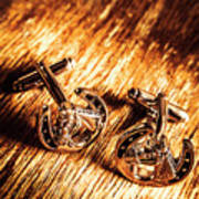 Horse Racing Cuff Links Poster