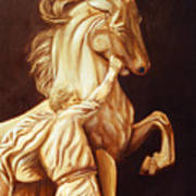 Horse Statue Poster