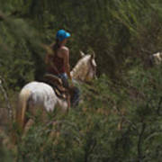 Horseback Riding Kauai Trail Poster