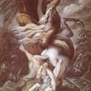 Horseman Attacked Poster