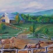 Horses At Gettysburg Poster