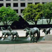 Horses At William Square  Poster