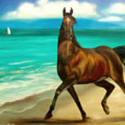 Horses In Paradise  Dance Poster