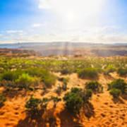 Horseshoe Bend Desert Poster