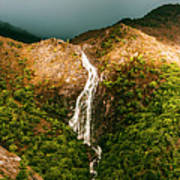 Horsetail Falls In Queenstown Tasmania Poster