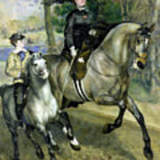 Horsewoman In The Bois De Boulogne Poster