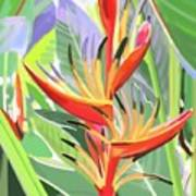Hort Park Heliconia Poster