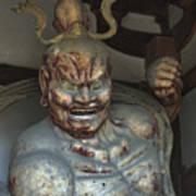 Horyu-ji Temple Gate Guardian - Nara Japan Poster