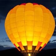 Hot Air Balloon Glow Poster