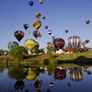 Hot Air Balloon Mass Ascension Poster