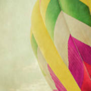 Hot Air Balloon With Pastel Sky Poster