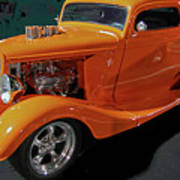 Hot Rod Orange Poster