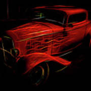 Hot Rod Red Poster