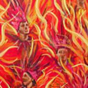 Hot Samba II Triptyche Middle Panel Poster