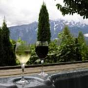 Hot Tub And Wine Poster