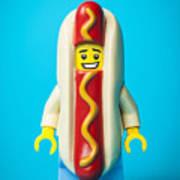 Hotdog Dude Poster