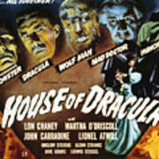 House Of Dracula, Glenn Strange, John Poster