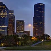 Houston Nighttime Skyline Poster