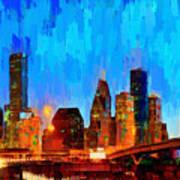 Houston Skyline 102 - Pa Poster