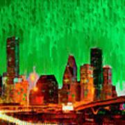 Houston Skyline 112 - Pa Poster