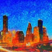 Houston Skyline 130 - Pa Poster