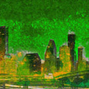 Houston Skyline 49 - Pa Poster